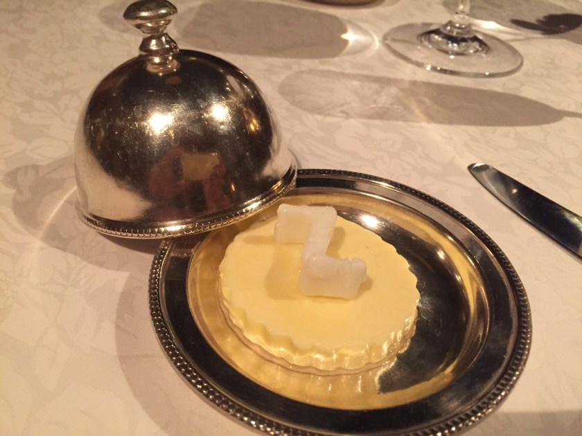 Butter served with the bread basket