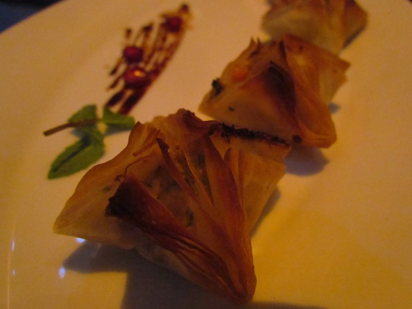 Crab & fennel baklava