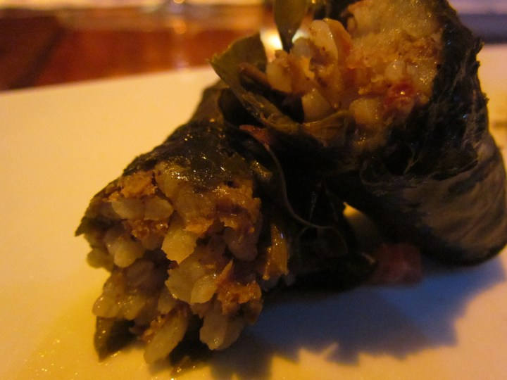 Lamb dolma - a peek inside
