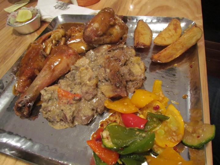 Festive roast chicken