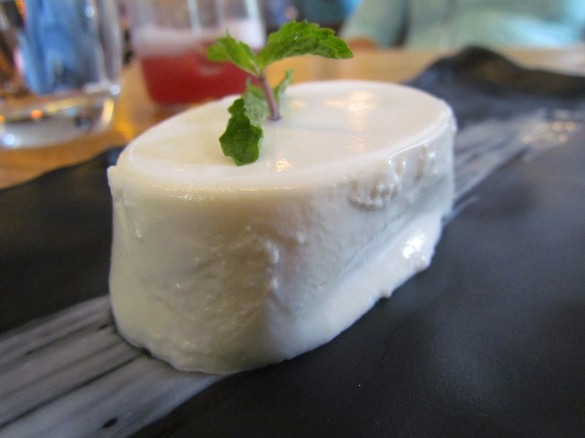 Sugarfree sitaphal panacotta made from custard Apple (sitaphal) splenda sugar free