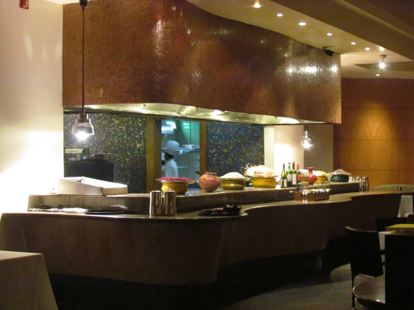 open kitchen counter