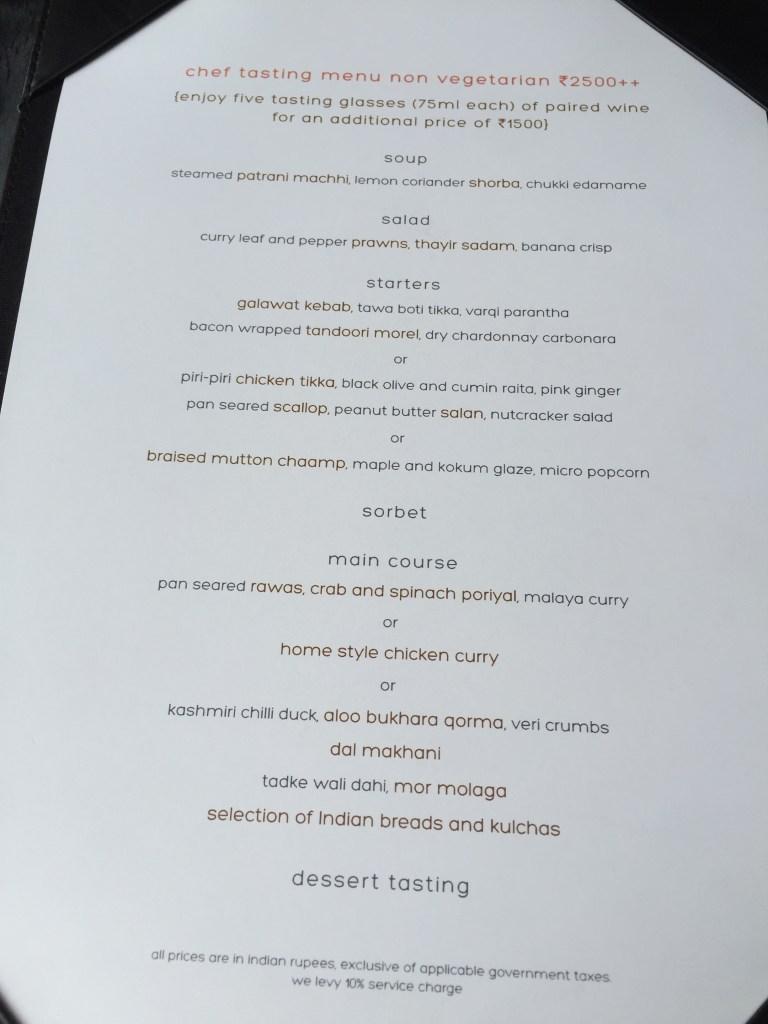 fixed menu