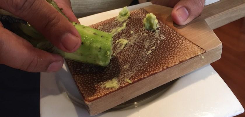 Freshly grated wasabi