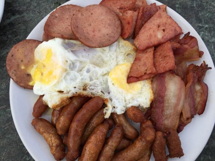 Pork breakfast platter