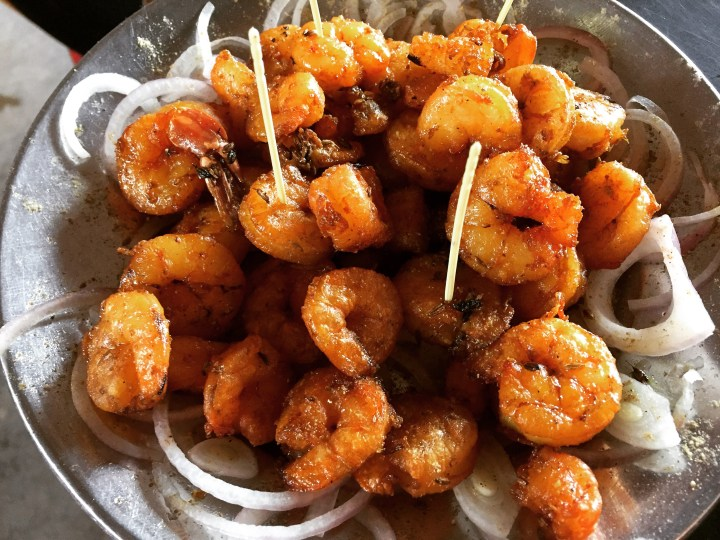 plain fried prawns