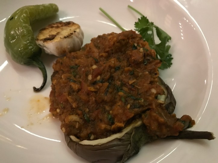 Fatehpuri chicken bharta with aubergine