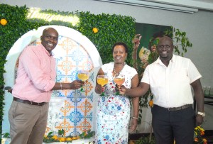 John Musunga (MD KBL), Jane Karuku (EABL Group MD) & Joel Kamau (KBL Commercial Director)
