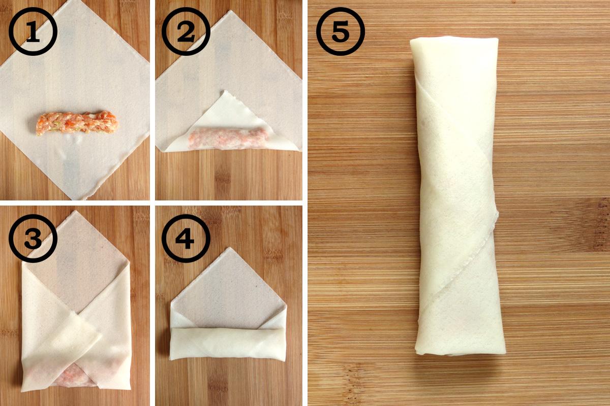 How to Fold Lumpia Wrappers | YummyAddiction.com