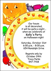 party invitation for Halloween birthday