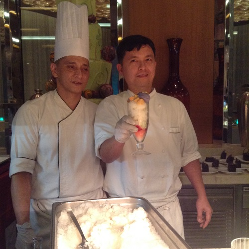 Chef Reyes and his assistant
