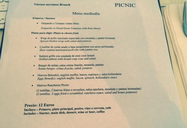 Picnic Restaurant Barcelona