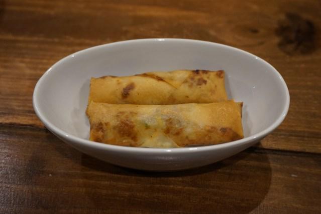 mian restaurante Rollitos de Langostinos al Curry.