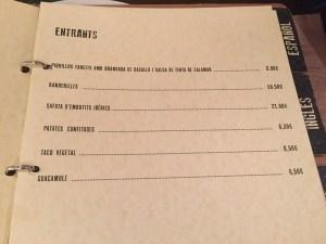 restaurante nonono carta y menu
