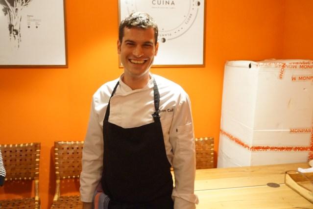 Chef Quim Coll del 4 amb 5 Mujades