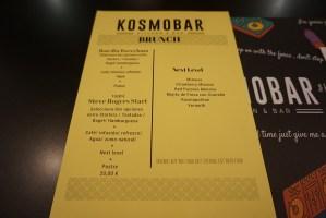 Carta y Platos KosmoBar
