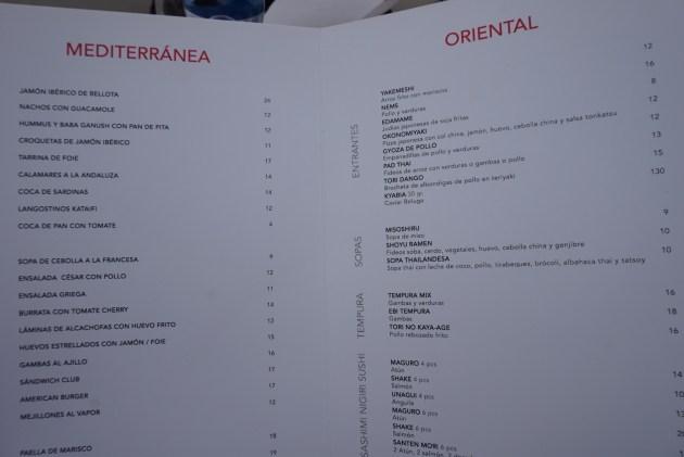 carta del restaurante pacha barcelona