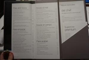carta y platos de La Taverna del Clínic