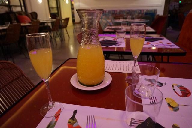 restaurante bananas Jarra de Mimosa
