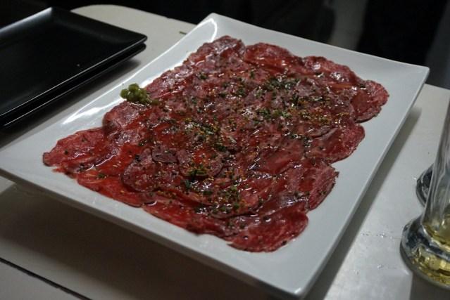 Nakashita Restaurante Carpaccio de Wagyu