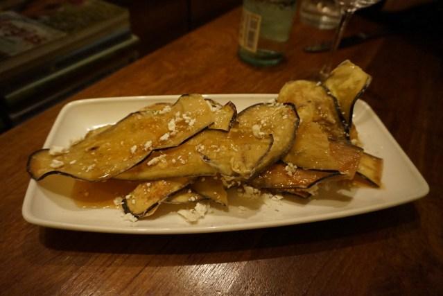 Ajoblanco Restaurante Berenjena Crujiente con Queso de Cabra
