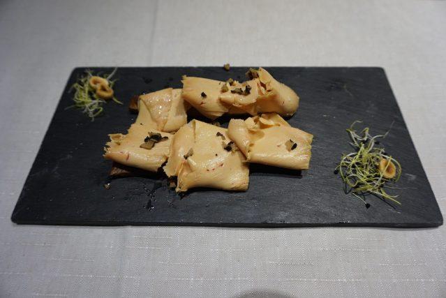 Restaurante Filigrana Foie a la vainilla con trufa negra
