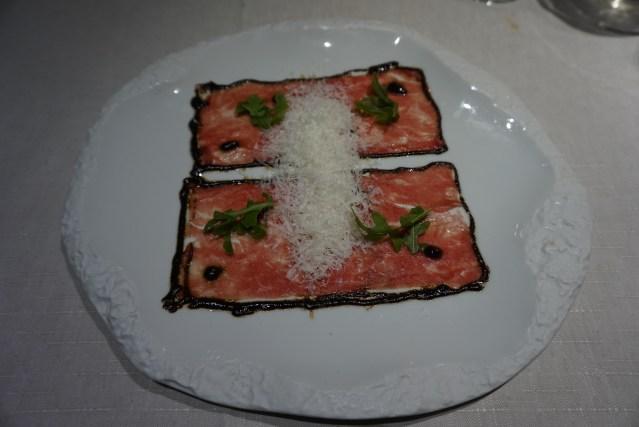 Restaurante Filigrana Carpaccio de Angus