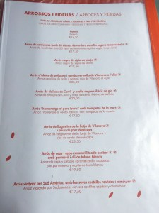 l'arroseria de cunit menu platos carta