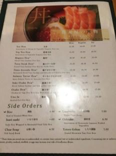 soba-ya new york menu
