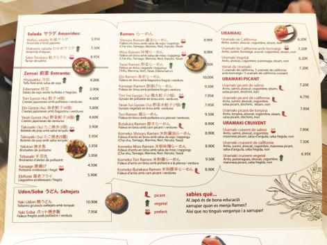 menu ramen bcn