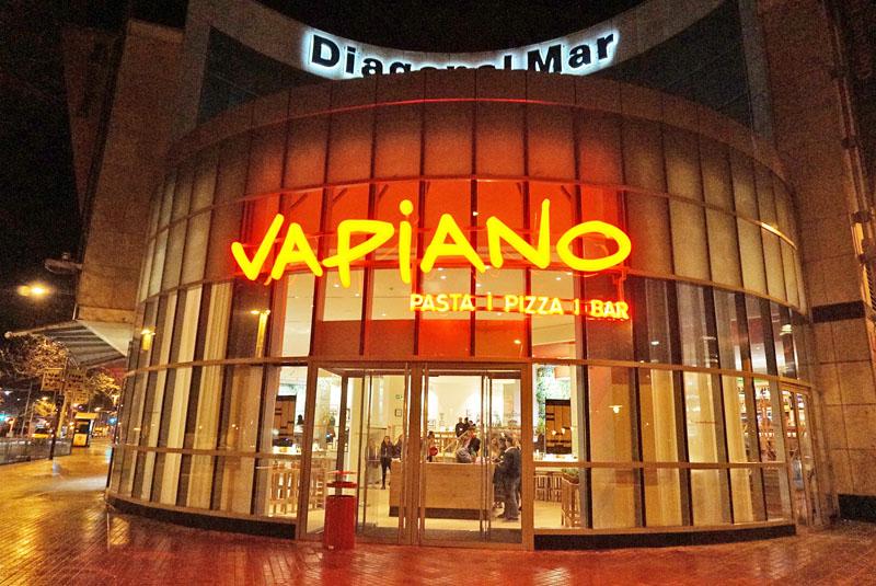 Restaurante Vapiano, en Diagonal Mar de Barcelona