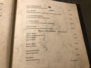 menu ukai barcelona