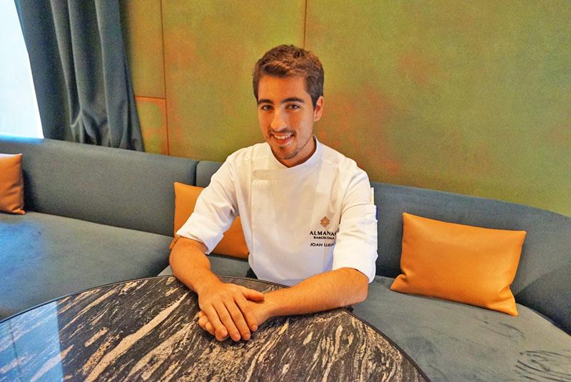 El Chef Joan Lleixà del restaurante Línia en el Hotel Alamanc Barcelona