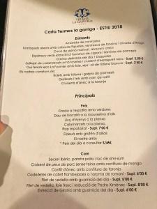 menu restaurante termes la garriga