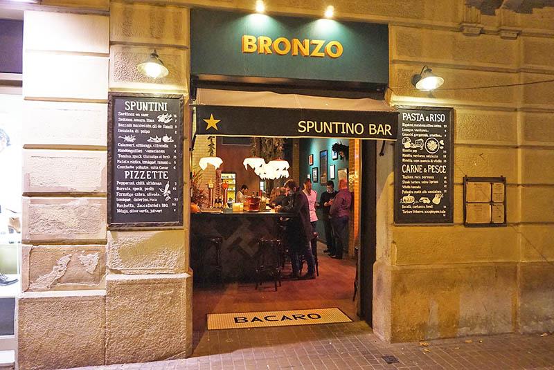 bronzo spuntino bar