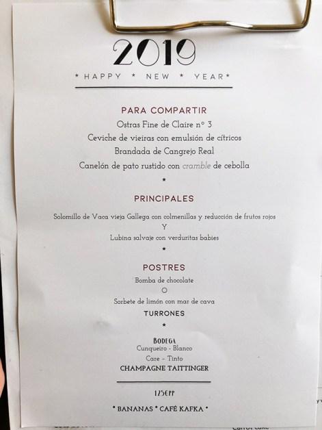 menu Café Kafka Restaurante