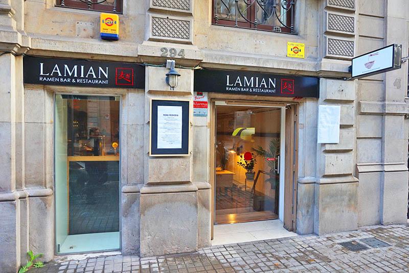 restaurante lamian barcelona