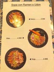menu heramen
