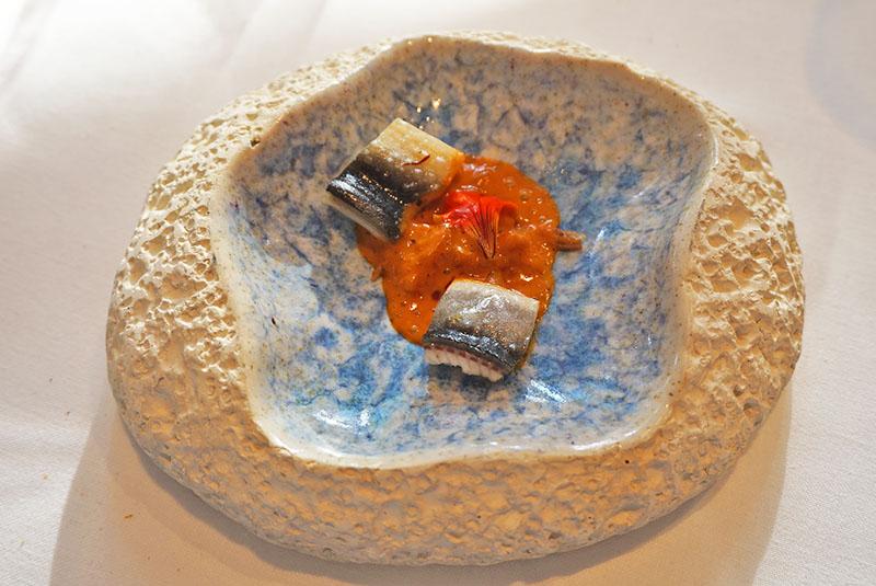 menu 2019 el celler de can roca restaurante Anguila chapada del Delta del Ebro