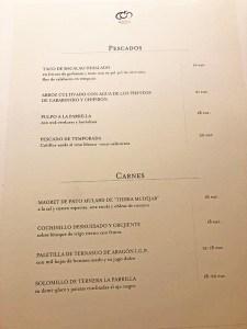 menu aragonia palafox zaragoza