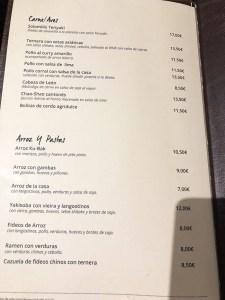 menu longan asian gastro madrid
