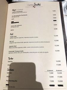menu longan asian gastro restaurante