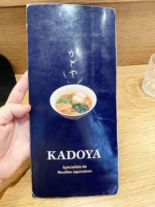 menu kadoya parís