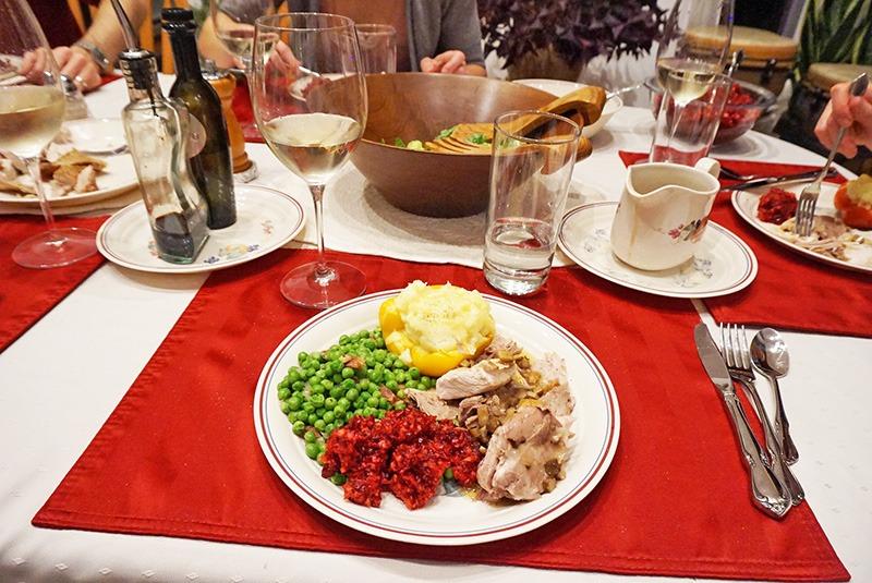 cena de acción de gracias en barcelona