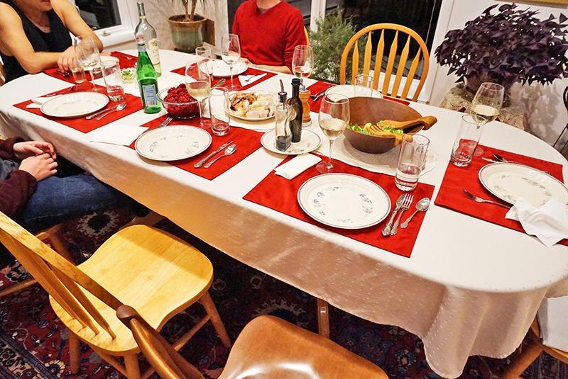 menu de cena de acción de gracias en barcelona