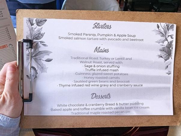 menu Flaherty's Barcelona