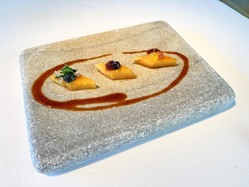 El Celler de Can Roca entrantes Chirivía en tres fases cocinadas con salsa de tendones de ternera