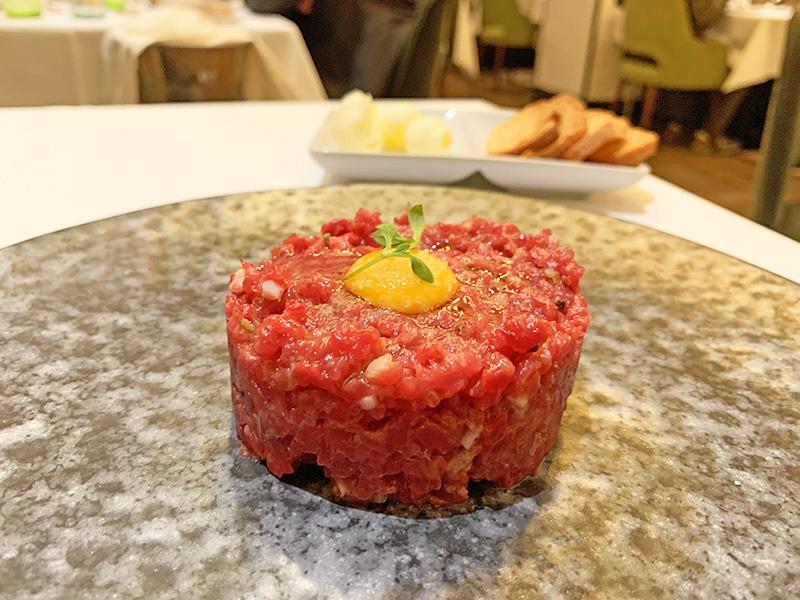 Restaurante L'Olivé steak tartar