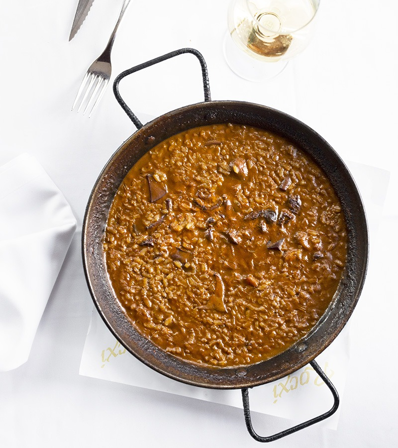 el raco del cargol arroz de sepia