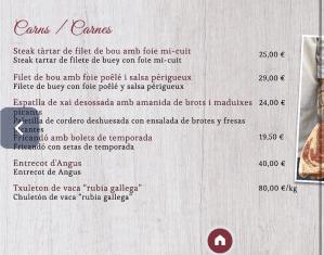 menu carta celler d'en toni restaurante andorra
